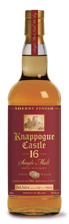Knappogue Castle Irish Whiskey Single Malt 16 Year Twin Wood